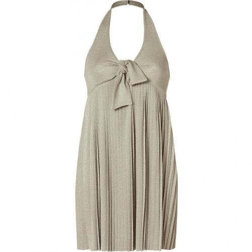 Azzaro Golden Lurex Neckholder Dress