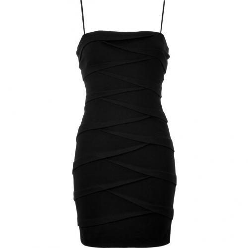 Bailey 44 Black Draped Bustier Dress