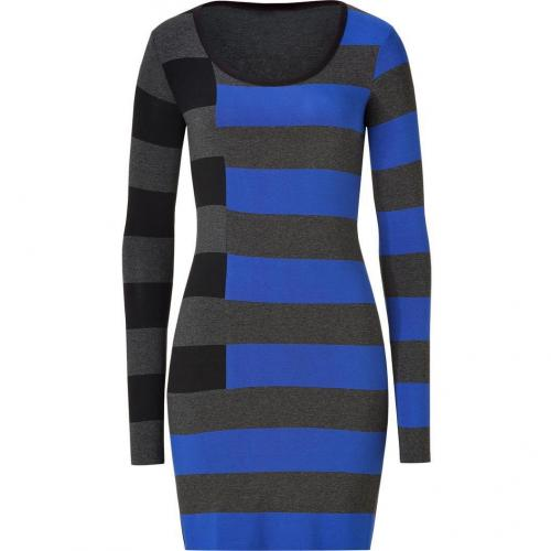 Bailey 44 Blue Many Colored Striped Dress