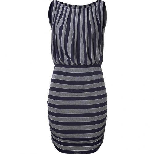 Bailey 44 Navy/Grey/Silver Striped Motorhead Dress