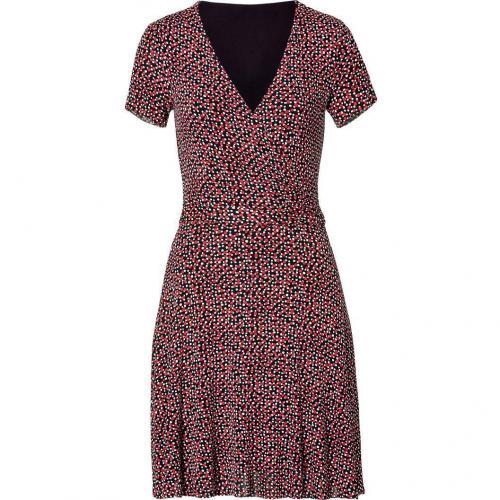Bailey 44 Rouge/Black Printed Décolleté Dress
