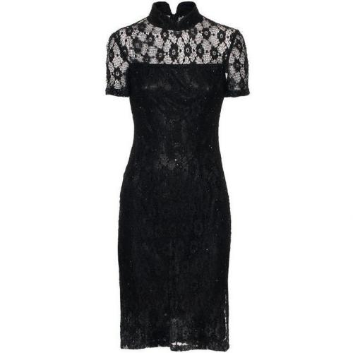 Barbara Schwarzer Lace and Beads Black