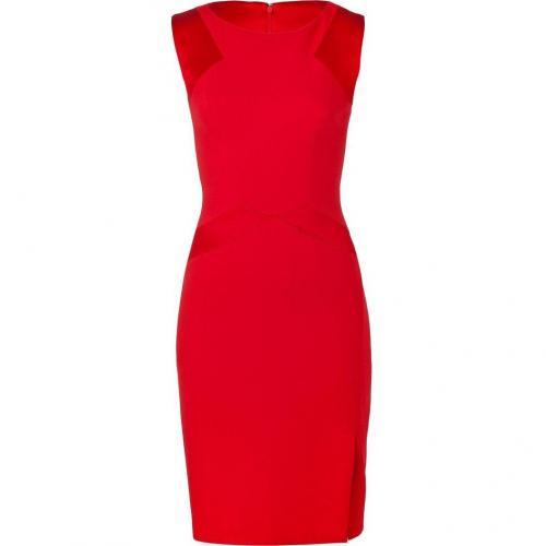 Blumarine Scarlet Red B-Fabric Pencil Kleid