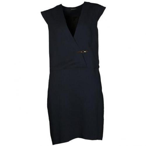 Bruuns Bazaar Kleid mit Kappenarmen dunkelblau