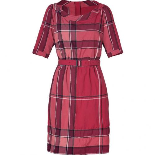 Burberry Brit Boysenberry Check Crinkle Cotton Kristie Kleid