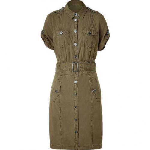 Burberry Brit Khaki Green Belted Kleid