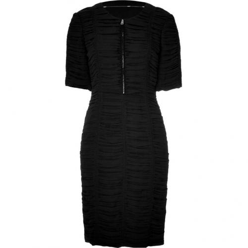 Burberry London Black Nested Silk Kleid