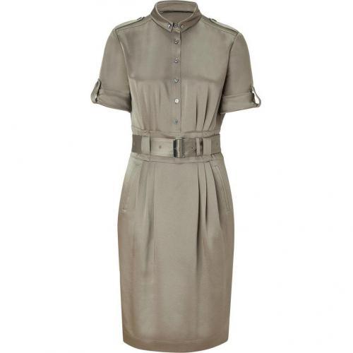 Burberry London Pebble Belted Silk Kleid