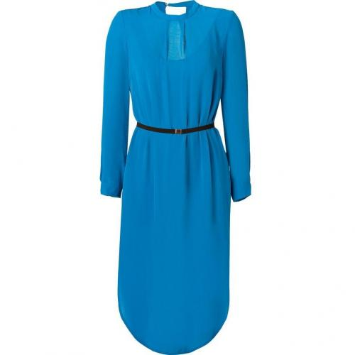 By Malene Birger Ocean Blue Belted Ulfaria Dress