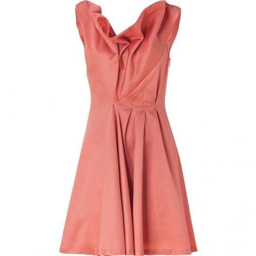 Cacharel Rosewood Draped Cotton Kleid