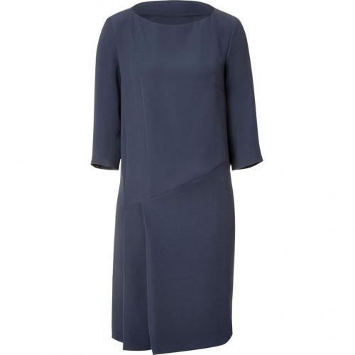 Cacharel Smoke Blue 3/4 Sleeve Kleid