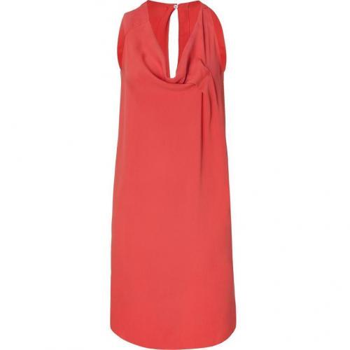 Cacharel Tangarine Draped Silk Kleid