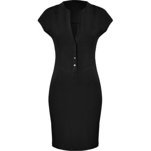 Catherine Malandrino Black Ponte Cap Sleeve Dress