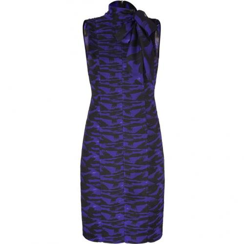 Catherine Malandrino Violet/Black Printed Silk Dress