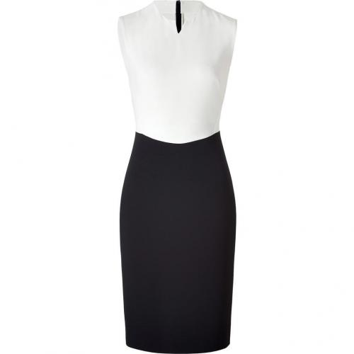 Cédric Charlier Black and Ivory Colorblock Dress