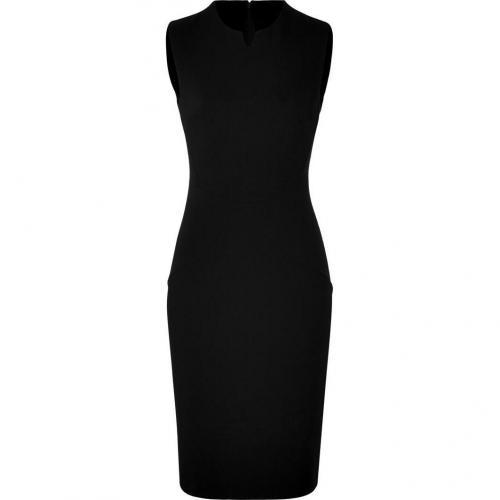 Cédric Charlier Black Sleeveless Sheath Dress