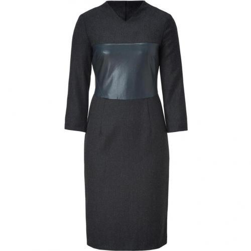 Cédric Charlier Charcoal Herringbone Sheath Dress