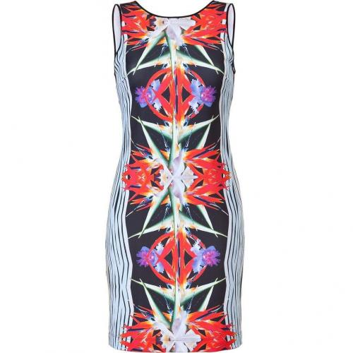 Clover Canyon Ballad Blue/Black Floral Stretch Dress