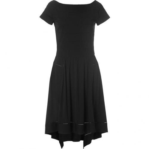 Derek Lam Black Cap Sleeve Embroidered Dress