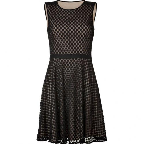 DKNY Black Dotted Lace Kleid