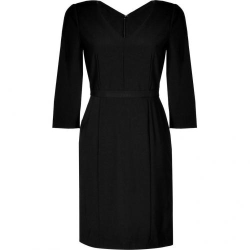 DKNY Black Wool Kleid