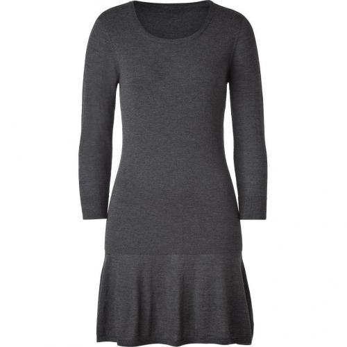 DKNY Flannel Scoop Neck Wool Kleid