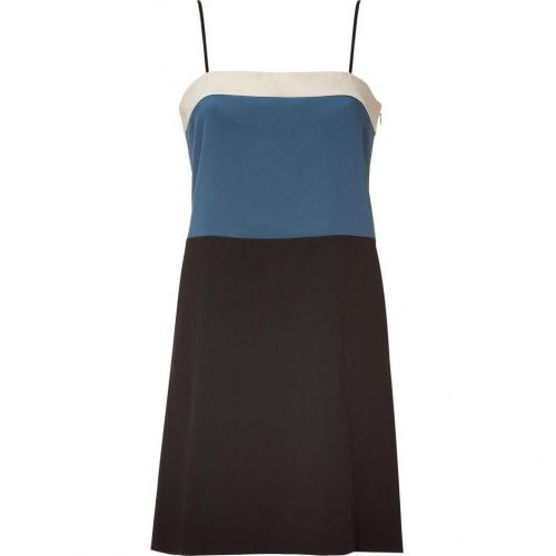 DKNY Stone Spagehetti Strap Color Block Kleid