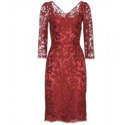 Dolce & Gabbana Spitzenkleid Red
