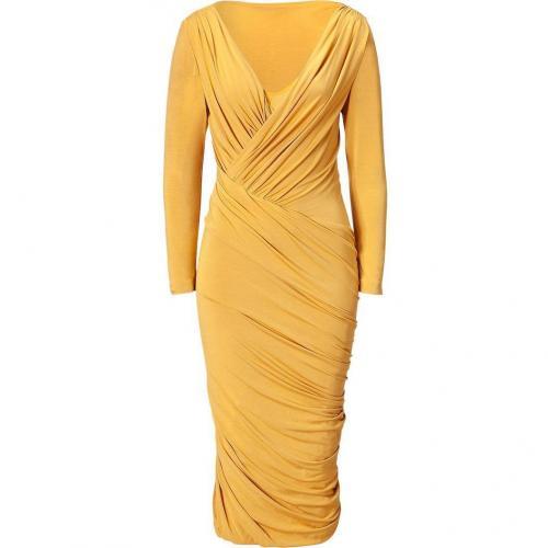 Donna Karan Butterscott Twist Drape Kleid