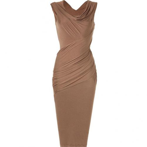 Donna Karan Caribou Cap-Sleeve Twist Kleid