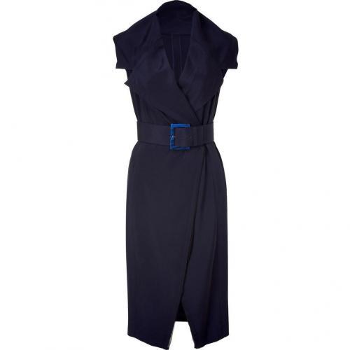 Donna Karan Ink Blue Wrap Kleid