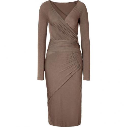 Donna Karan Nougatin Draped Jersey Kleid