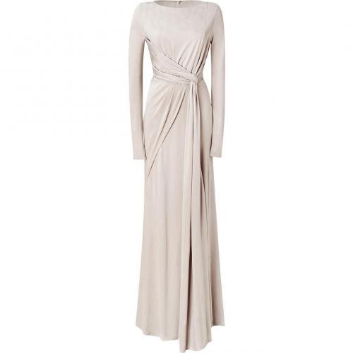 Elie Saab Silver-Beige Twist Front Jersey Gown