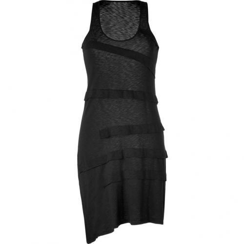 Ella Moss Black Draped Tank Dress