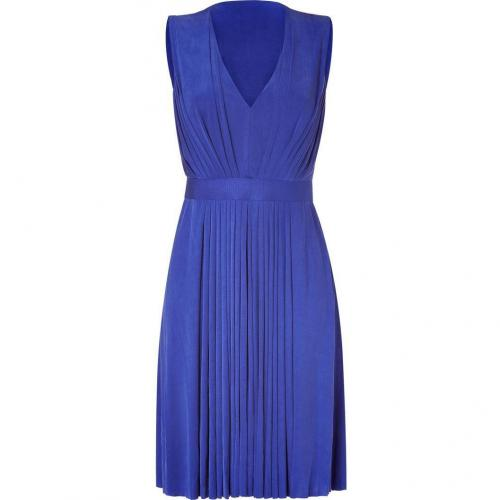 Emanuel Ungaro Royal Blue Pleated Kleid