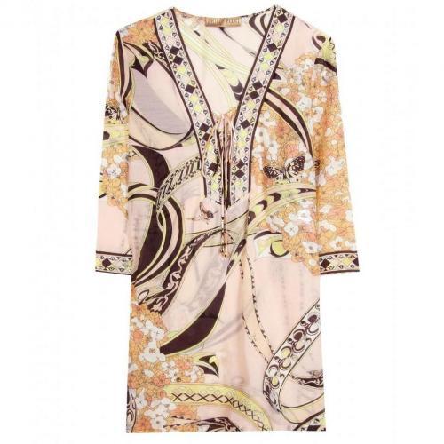 Emilio Pucci Beach Tunika-Kleid Mit Druck Beige