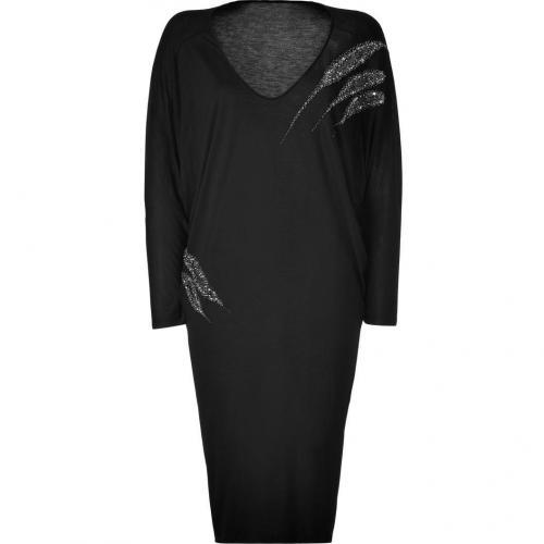 Emilio Pucci Black Embellished Dolman Sleeve Dress