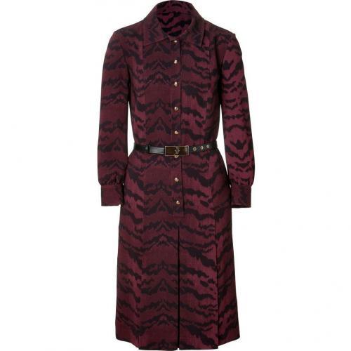Emilio Pucci Bordeaux Pleated Dress with Belt
