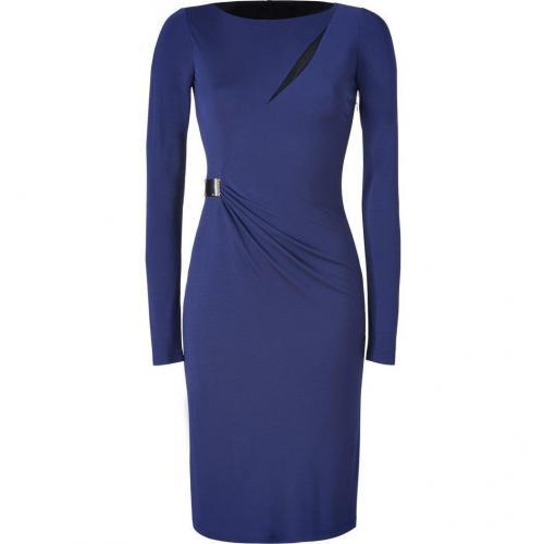 Emilio Pucci Indigo Slashed Front Dress