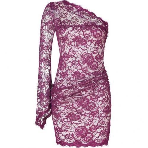 Emilio Pucci Lotus One Shoulder Lace Dress