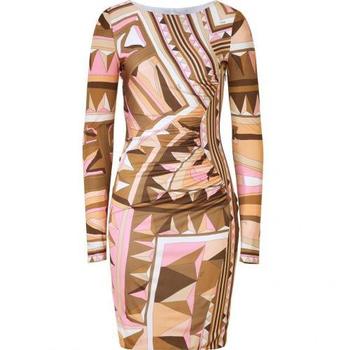 Emilio Pucci Rose/Caramel Draped Jersey Dress