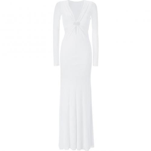 Emilio Pucci White Draped Dress