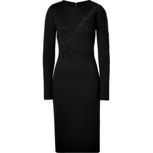 Ermanno Scervino Black Dress With Application