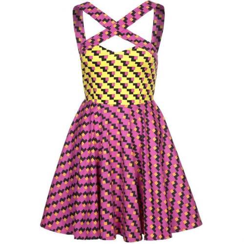 Fairground Lola Dress Jerseykleid pink/gelb