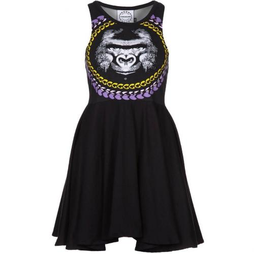 Fairground Scuba Jerseykleid black/gorilla print