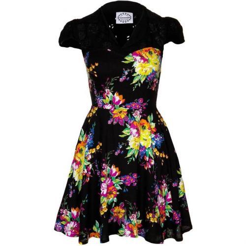 Fairground The Librarian Dress Blusenkleid Black/floral