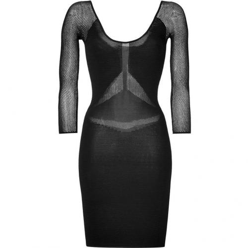 Faith Connexion Black Mesh Detailed Ottoman Dress