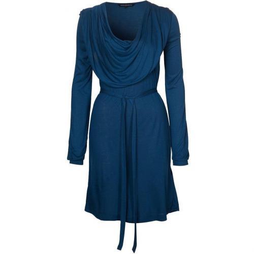 French Connection Winter Meadow Jerseykleid merchant blau