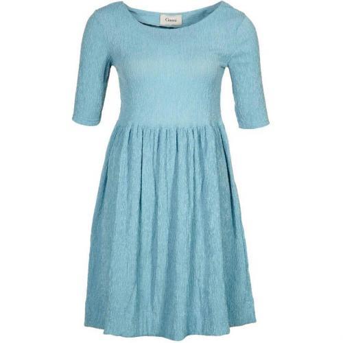 Ganni Ava Kleid dusty denim blue