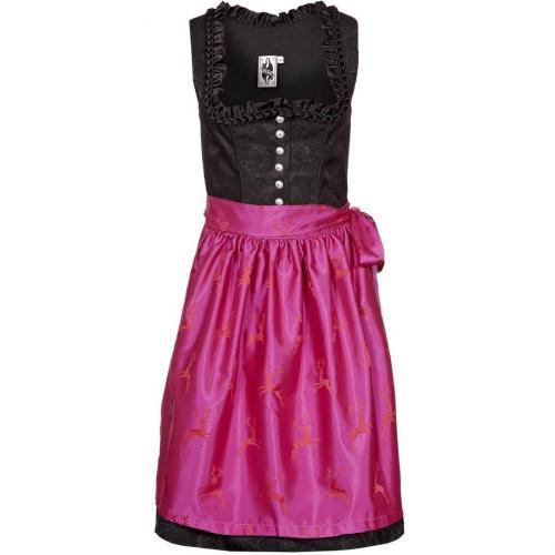 German Princess Brokat Hirsch Cocktailkleid / festliches Kleid pink